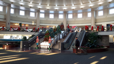 Chattanooga Airport with Christmas Decorations