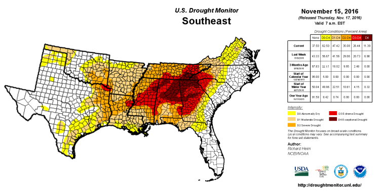 southeast-drought-map-nov-15-2016