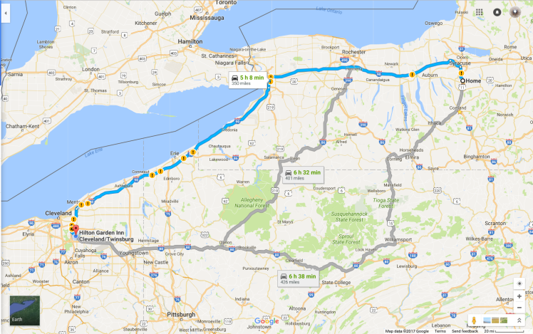 google-map-ny-to-twinsburg-oh