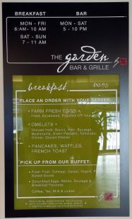 Hilton Garden Inn Cleveland/Twinsburg - restaurant menu.